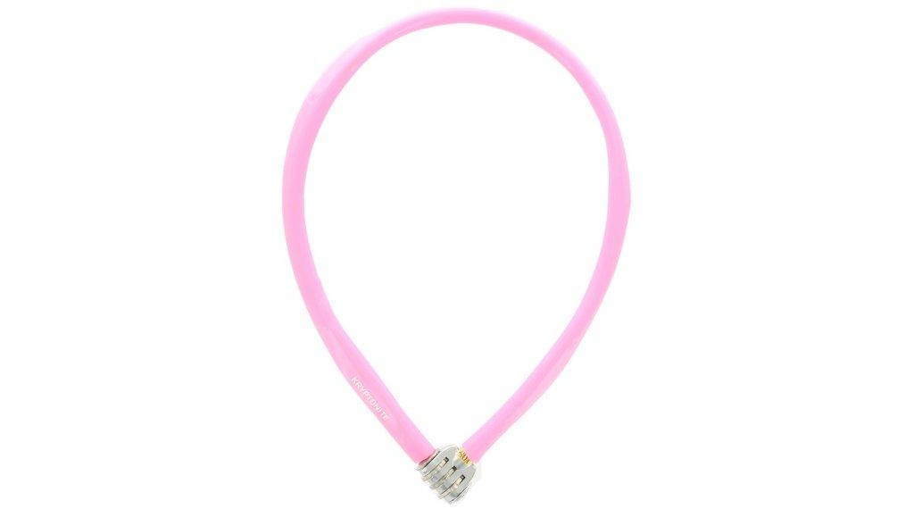 Kryptonite Keeper 665 Combo Cable Kabelschloss Zahenschloss 6mm x 65cm pink