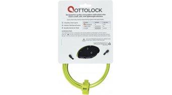 OTTO DesignWorks Ottolock Cinch Lock Kabelschloss Zahlenschloss 76cm-lang flash green
