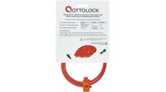 OTTO DesignWorks Ottolock Cinch Lock Kabelschloss Zahlenschloss 76cm-lang otto orange