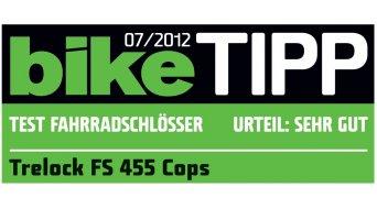 Trelock FS 455 Cops Kompakt candado plegable 85cm color plata (incl. Halter)
