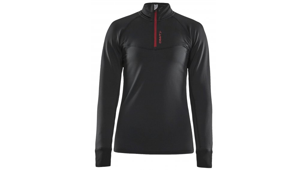 Craft Active Midlayer Pullover Damen Gr. M black/rhubarb