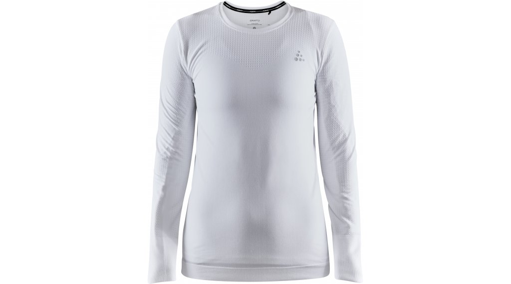Craft Fuseknit Light Roundneck LS T-Shirt langarm Damen Gr. S white