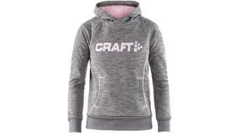 Craft logo Hood JR Kapuzen shirt kinderen dark greymelange/logo