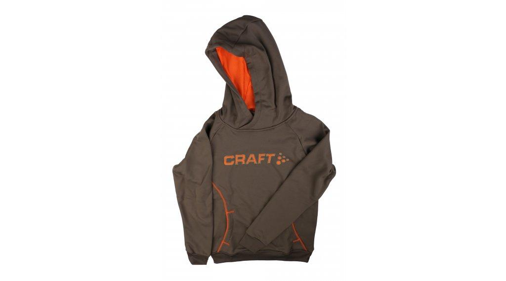 Craft Logo Hood JR 连帽套头衫 儿童 型号 134/140 dark olive/pump