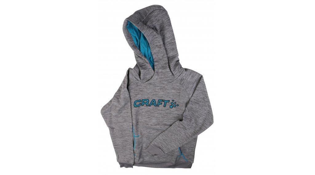 Craft Logo Hood JR 连帽套头衫 儿童 型号 122/128 grey/zen