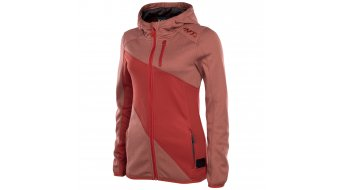 EVOC Logo felpa zip con cappuccio da donna chili rosso mis. S