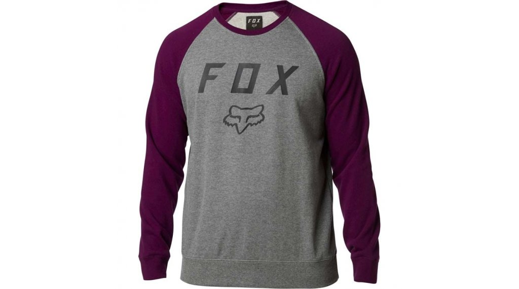 Fox Legacy Crew Fleece Pullover 男士 型号 S dark purple