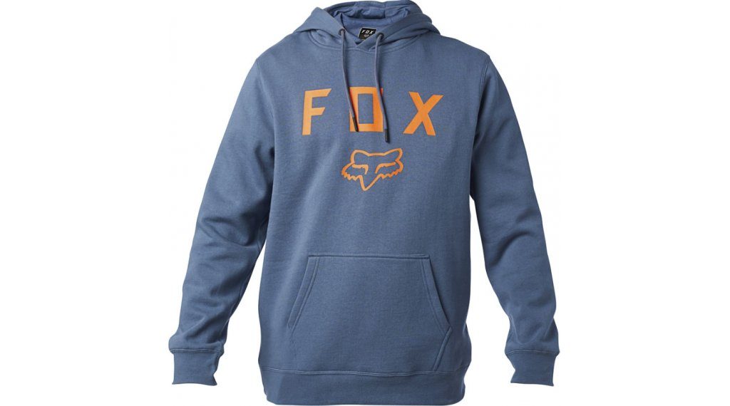 Fox Legacy Moth Fleece Kapuzenpullover Herren Gr. M blue steel