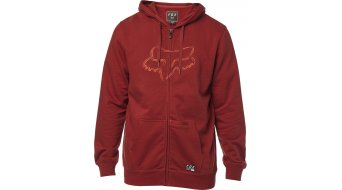 FOX Tracer Zip Fleece Sweatshirt hommes taille bordeaux