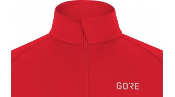 GORE Wear M Mid Zip Shirt langarm Herren Gr. S red