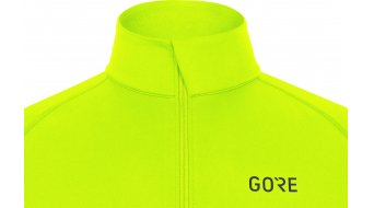 GORE Wear M Mid Zip Shirt langarm Herren Gr. M neon yellow/black