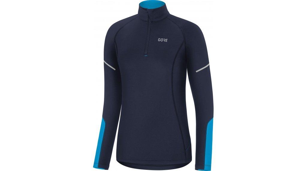GORE Wear M Mid Zip Shirt langarm Damen Gr. S (36) orbit blue/dynamic cyan