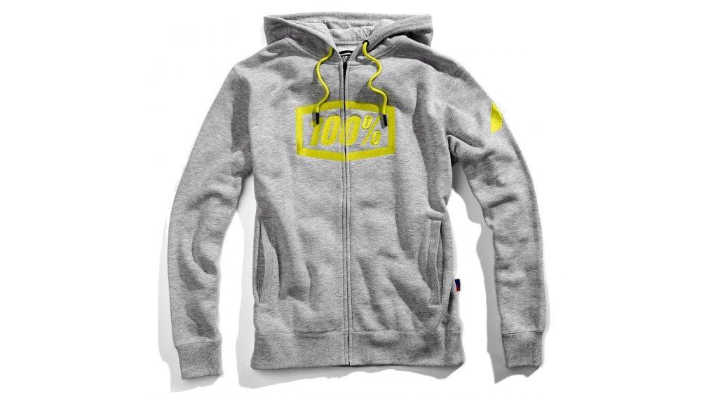 100% Syndicate Full-Zip Pullover Damen langarm Gr. M grey heather