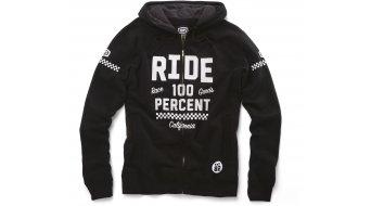 100% Flat Track hoodie jacket Zip Hoody black
