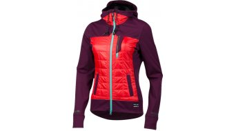 Pearl Izumi Versa Quilted MTB Zip Hoodie ladies size M potent purple/poppy red