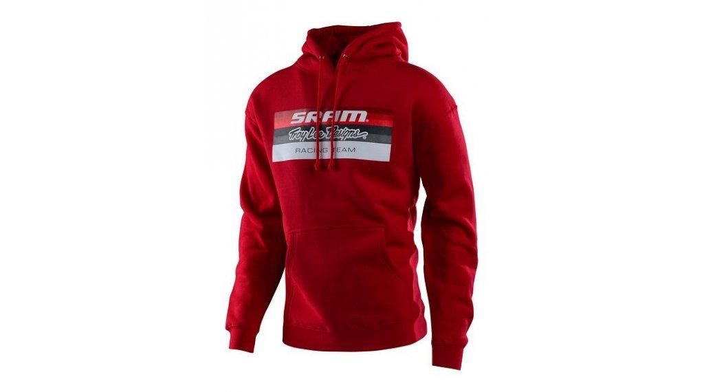 Troy Lee Designs SRAM Racing 连帽套头衫 男士 型号 SM (S) block red