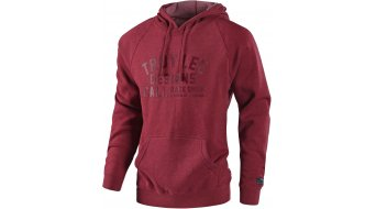 Troy Lee Designs Podium kapucnis pulóver férfi Méret S (SM) heather crimson