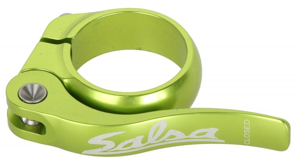 Salsa Flip Lock Sattelklemme 32.0mm lime green