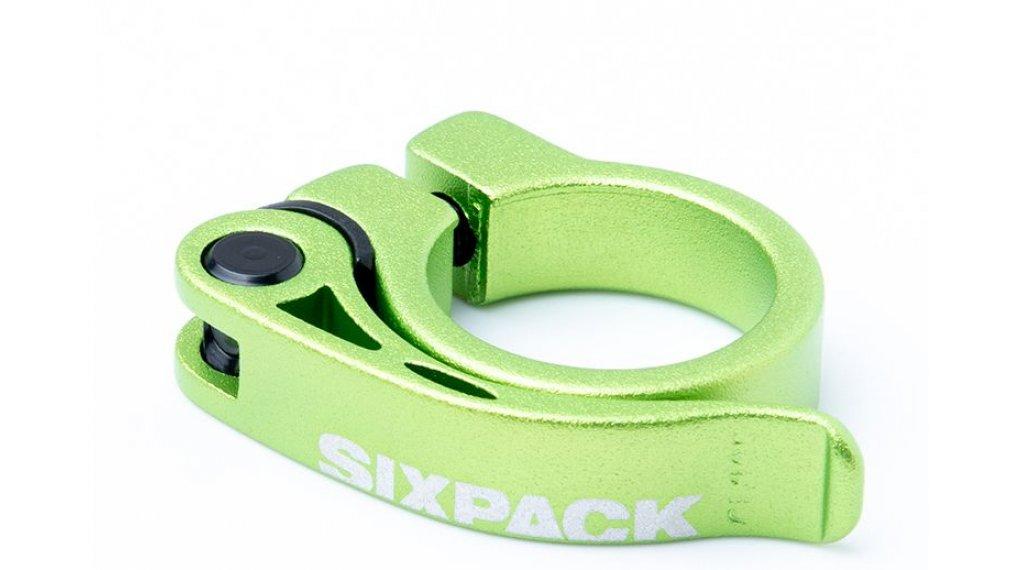 Sixpack Menace Sattelklemme 31.8mm electric green
