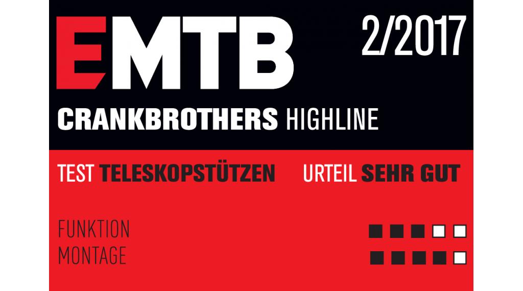 CrankBrothers Highline Vario-Sattelstütze 31.6x465mm 160mm-Verstellbereich black