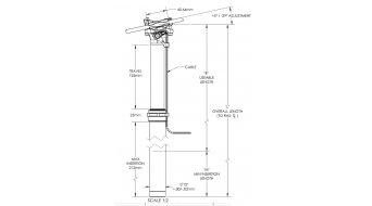 Thomson Dropper Sattelstütze 30.9x400mm Travel125 schwarz