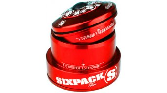 Sixpack Fire Steuersatz tapered red polished anodized (ZS44/28.6 I EC49/40) Mod. 2016