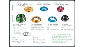 Reverse Twister cuvette de jeu de direction inférieur semi intégré 1 1/8 bleu