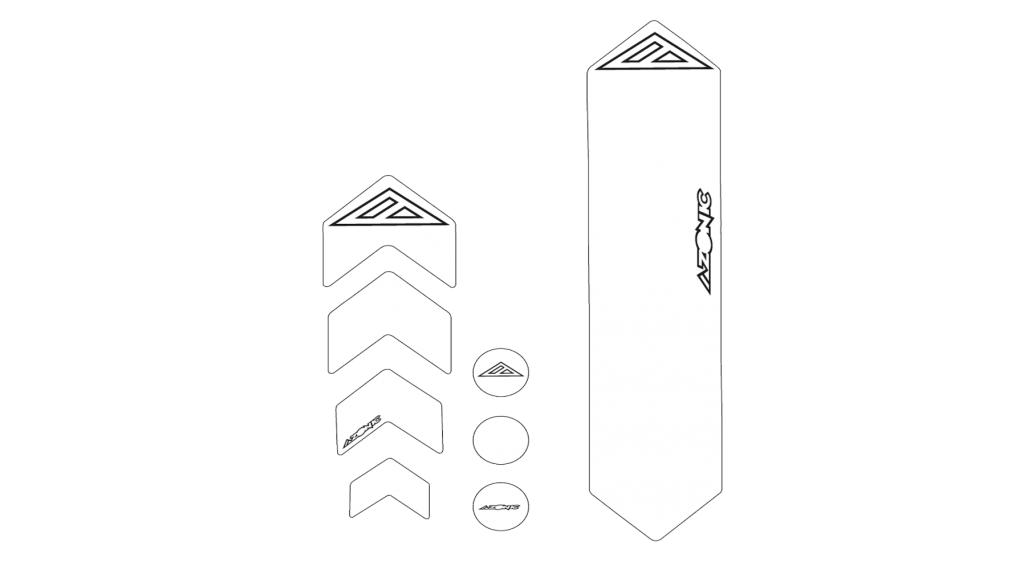 Azonic Clear Frame Guard Rahmenschutz Gr. L clear