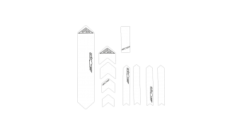 Azonic Clear Frame Guard Rahmenschutz Gr. XL clear