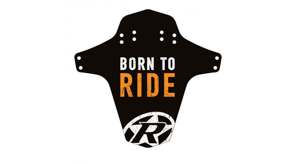 Reverse Mudguard Born to Ride FOX arancione