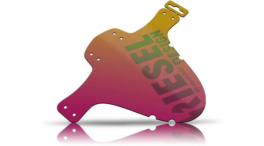 "Riesel Design 泥地:PE 挡泥板 前轮 喷溅保护 26""- 29"" red-金色"