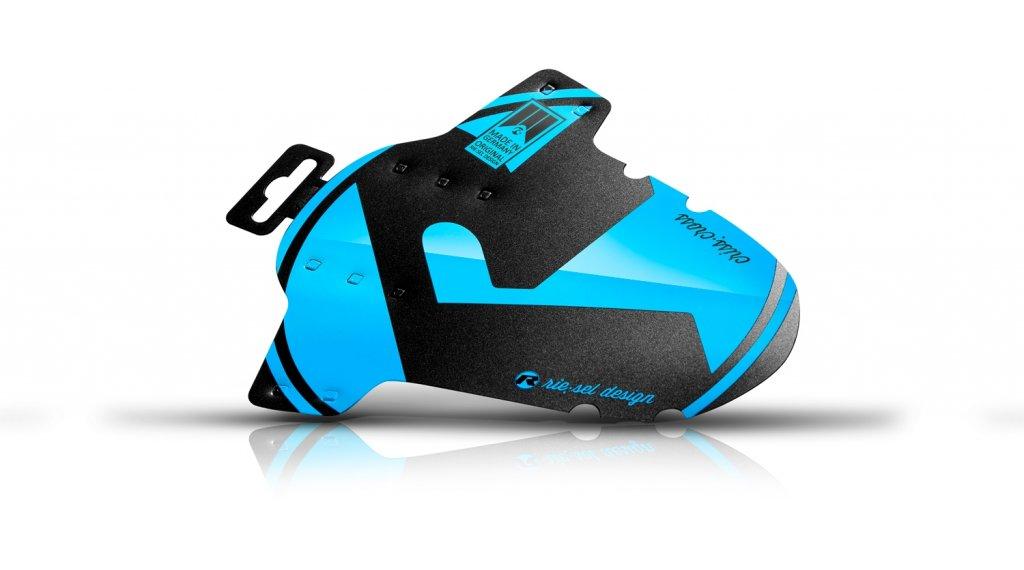 """Riesel Design criss:cross Cyclocross / Gravel Schutzblech Vorderrad Spritzschutz 28"""" blue"""