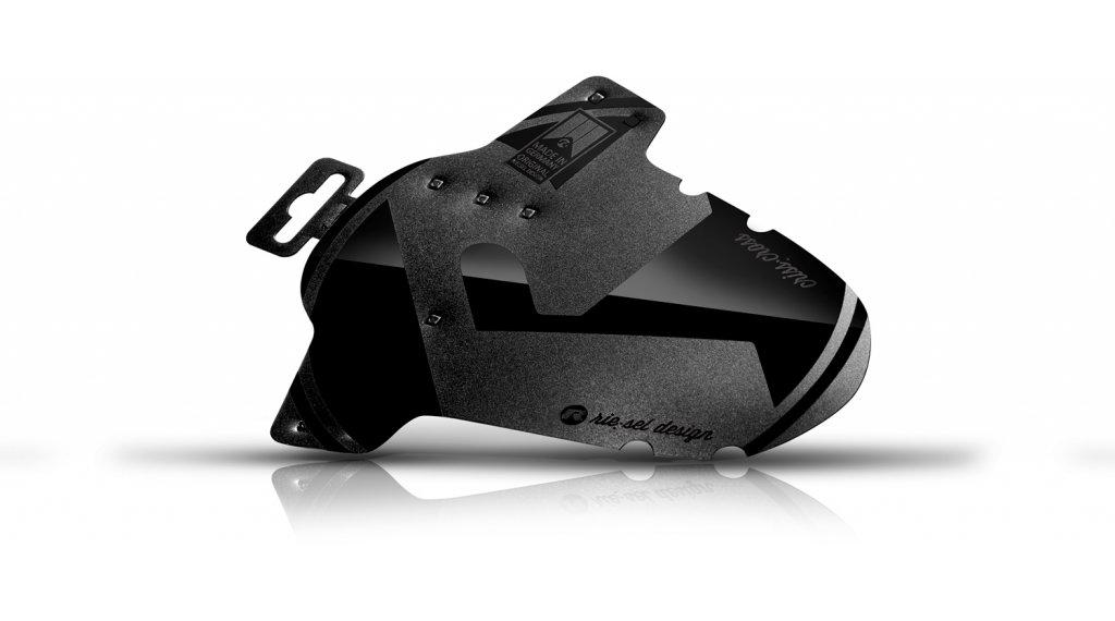 "Riesel Design criss:cross Cyclocross / Gravel Schutzblech Vorderrad Spritzschutz 28"" stealth"