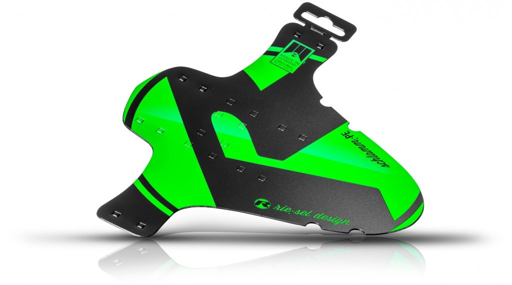 """Riesel Design 泥地:PE 挡泥板 前轮 喷溅保护 26""""- 29"""" green"""