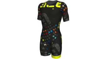 Alé Long Tri Stelle Einpartsr short sleeve men Triathlon size M black/fluo yellow