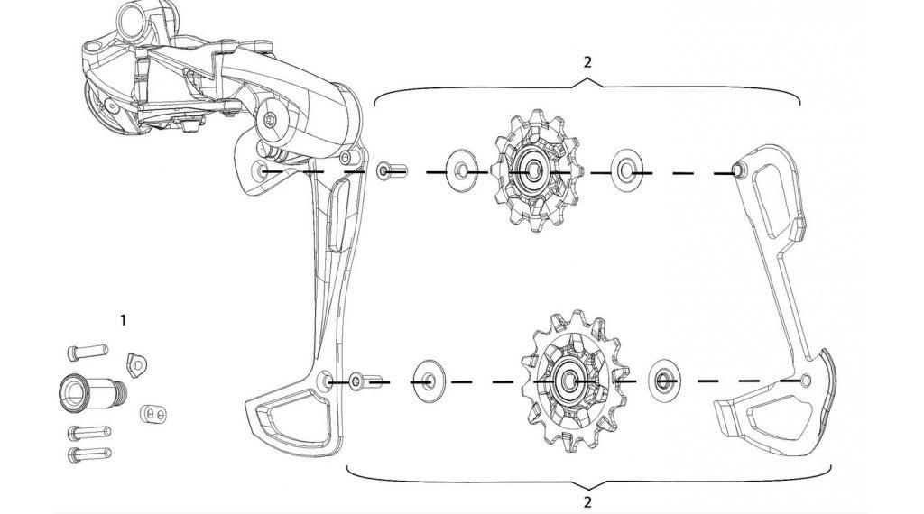 SRAM GX Eagle 1x12 pezzo di ricambio Innenkäfig e pulegge cambio