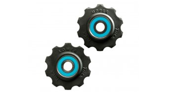 Tacx derailleur pulley Tefloncompound-plastic Shimano 7-/- 8 speed/Campa 8-/9-/10 speed 10  teeth ceramic- bearing T4030