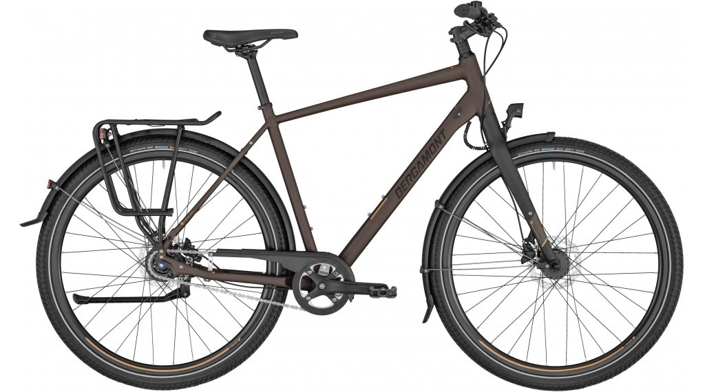 "Bergamont Vitess N8 FH Gent 28"" Trekking 整车 型号 48厘米 tobacco brown/black/copper (matt) 款型 2020"