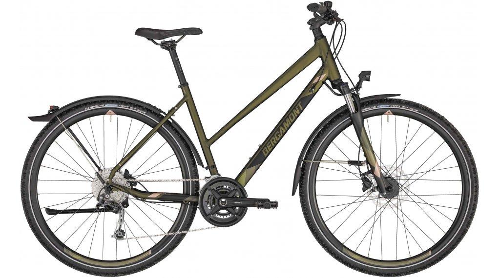 "Bergamont Helix 6 EQ Lady 28"" Trekking 整车 女士 型号 44厘米 dark olive green/black/rosé (matt) 款型 2020"