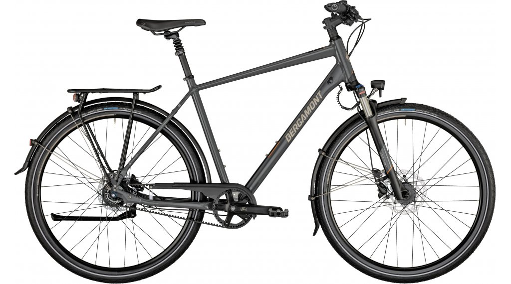 Bergamont Horizon N8 Belt 28 Trekking bici completa Caballeros tamaño 56cm dark gris/negro/creme Mod. 2021