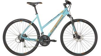 "Bergamont Helix 5.0 Lady 28"" Hybrid Komplettbike Damen-Rad coral blue/grey/orange (matt) Mod. 2018"