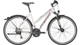 "Bergamont Helix 4.0 EQ Lady 28"" Hybrid Komplettbike Damen-Rad white/dark silver/red (matt) Mod. 2018"