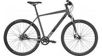 "Bergamont Helix N8 Gent 28"" Hybrid bici completa . cm dark grey/black/grey/violet (opaco) mod. 2019"
