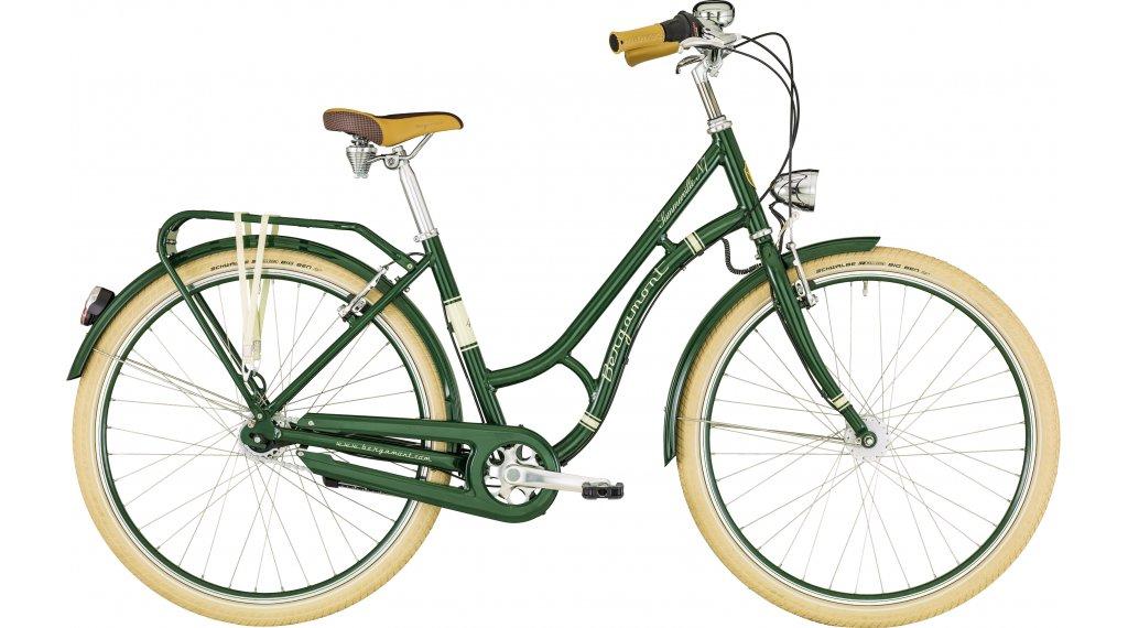 "Bergamont Summerville N7 FH dark green Amsterdam 26"" City 整车 型号 44厘米 dark green/cream white (shiny) 款型 2019"