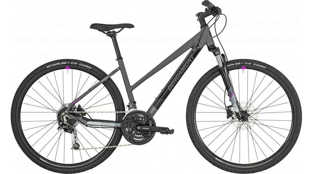 "Bergamont Helix 5.0 Lady 28"" Hybrid bici completa da donna mis. 46 cm dark grey/black/grey/violet (opaco/shiny) mod. 2019"