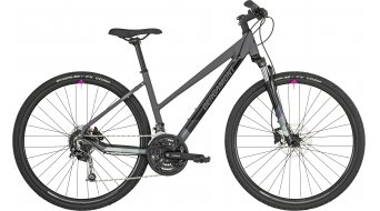 "Bergamont Helix 5.0 Lady 28"" Hybrid bike damesfiets cm dark grey/black/grey/violet (mat/shiny) model 2019"