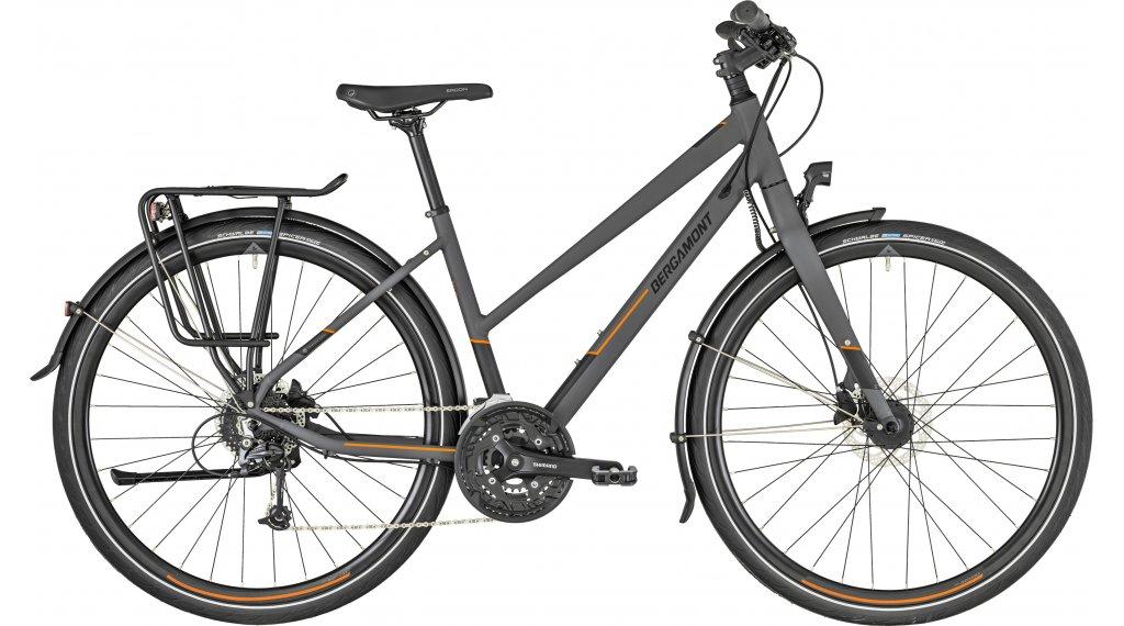 """Bergamont Vitess 6.0 Lady 28"""" Trekking 整车 女士-Rad 型号 44厘米 dark grey/橙色 (matt) 款型 2019"""