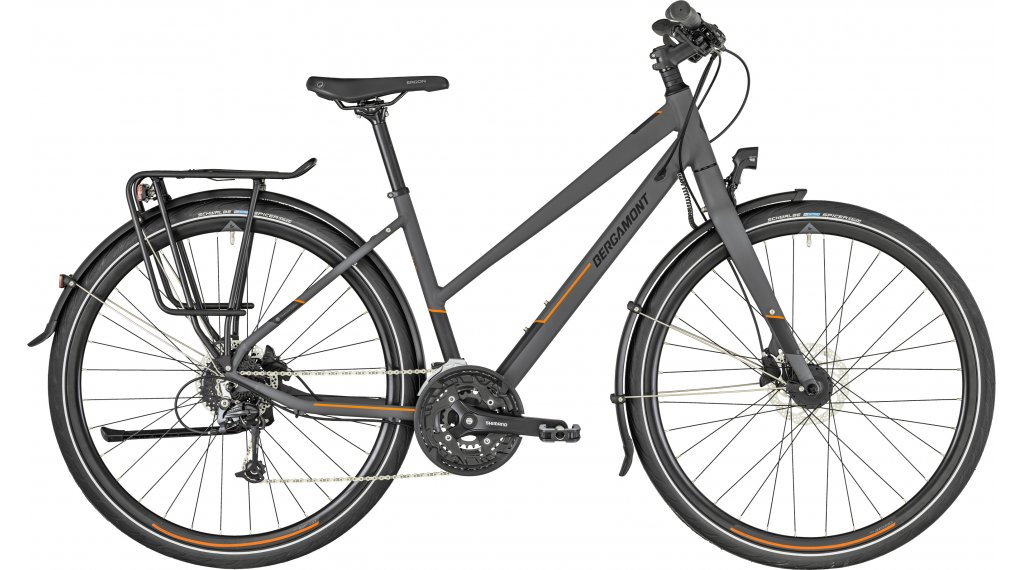 "Bergamont Vitess 6.0 Lady 28"" trekking bici completa da donna mis. 44 cm dark grey/arancione (opaco) mod. 2019"