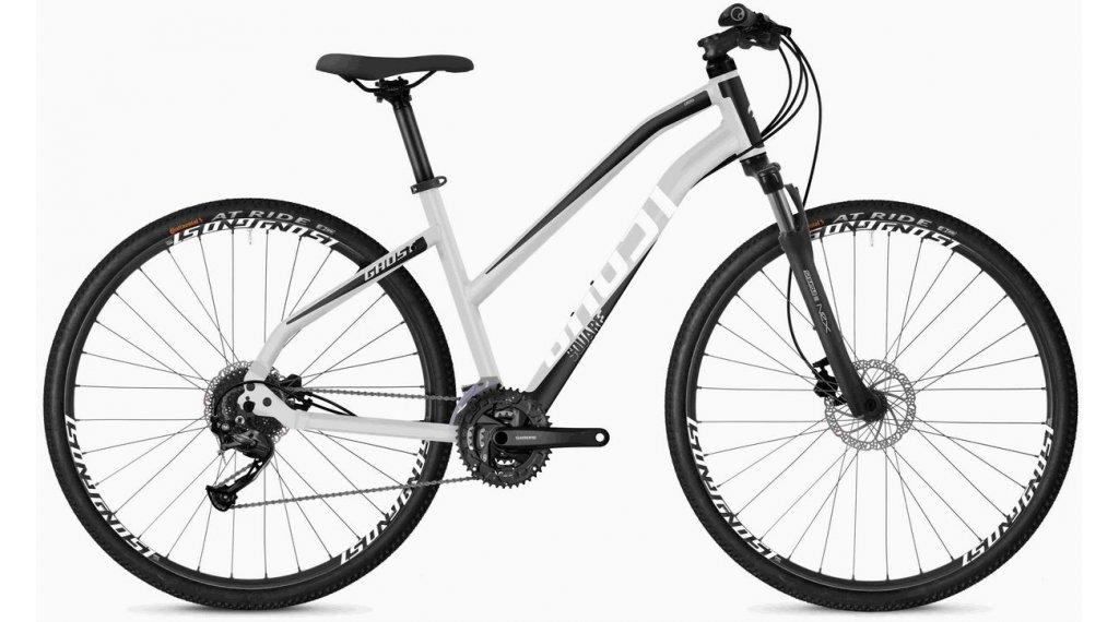 """Ghost Square Crocsatlakozó 1.8 AL W 28"""" Trekking komplett kerékpár női Méret XS iridium ezüst/jet black/star white 2020 Modell"""