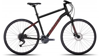 Ghost Square Cross 4 AL Fitnessbike jízdní kolo velikost S black/neon red/urban gray model 2017